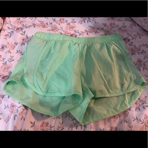 Old Navy green running shorts. Size S.